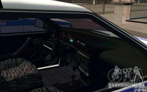 Ваз 2114 ОВО Полиция для GTA San Andreas вид сзади