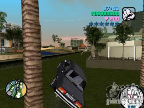 Ваз 2105 для GTA Vice City вид сзади