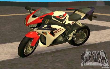 Honda Fireblade 1000RR для GTA San Andreas вид сзади слева