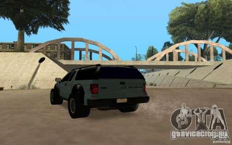 Ford Velociraptor для GTA San Andreas вид сзади