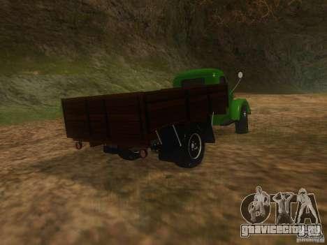 ГАЗ-63 для GTA San Andreas вид сзади слева
