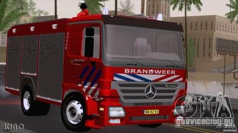 Mercedes-Benz Actros Fire Truck для GTA San Andreas