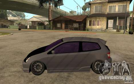 Honda Civic Type-R для GTA San Andreas вид слева