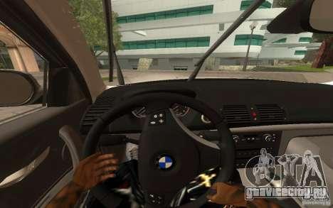 BMW 120i для GTA San Andreas вид сзади