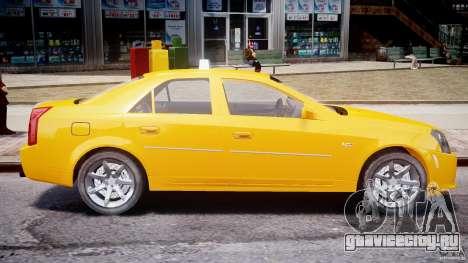 Cadillac CTS Taxi для GTA 4 вид слева