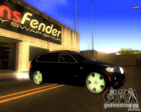 BMW X5 dubstore для GTA San Andreas вид сбоку