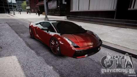 Lamborghini Gallardo Superleggera 2007 (Beta) для GTA 4 вид изнутри