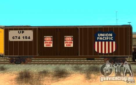 Union Pacific Reefer для GTA San Andreas вид слева