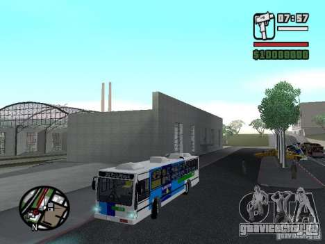 Cobrasma Monobloco Patrol II Trolerbus для GTA San Andreas вид сбоку
