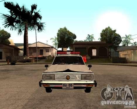 Nissan Skyline 2000 GT Police для GTA San Andreas вид справа