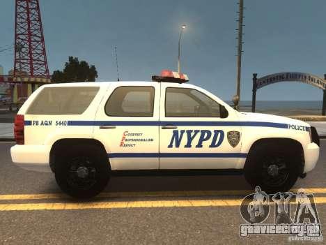 Chevrolet Tahoe NYPD V.2.0 для GTA 4 вид справа