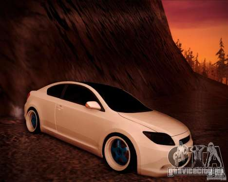 Scion tC Blue Meisters для GTA San Andreas салон