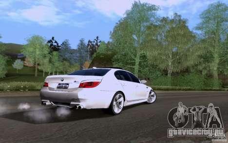 BMW M5 для GTA San Andreas вид сзади слева