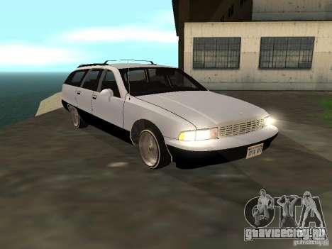 Chevrolet Caprice Wagon 1992 для GTA San Andreas вид сзади слева