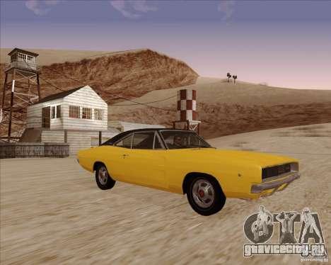 Dodge Charger RT 1968 Bullit clone для GTA San Andreas вид сзади