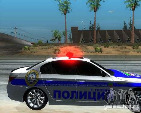 BMW M5 E60 Полиция для GTA San Andreas вид справа