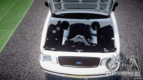 Ford Crown Victoria US Marshal [ELS] для GTA 4 вид изнутри