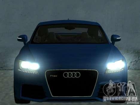 Audi TT RS для GTA San Andreas двигатель