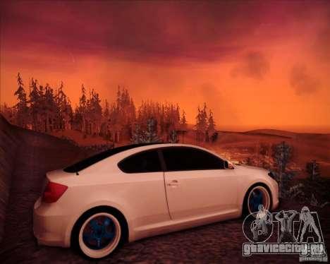 Scion tC Blue Meisters для GTA San Andreas вид справа