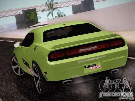 Dodge Challenger SRT8 2010 для GTA San Andreas вид сзади слева