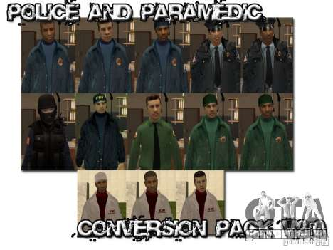 Police and Paramedic Conversion Mod 2.0 для GTA San Andreas третий скриншот