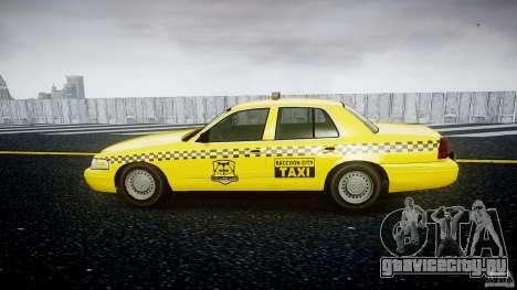Ford Crown Victoria Raccoon City Taxi для GTA 4 вид слева