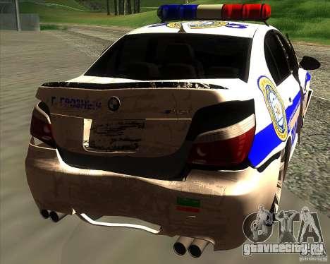 BMW M5 E60 Полиция для GTA San Andreas двигатель