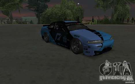 Nissan S14 Matt Powers 2012 для GTA San Andreas вид сзади