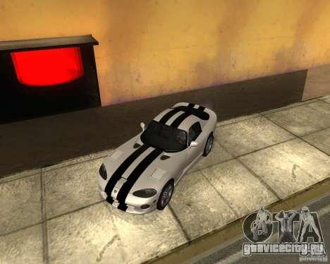 Dodge Viper GTS Coupe для GTA San Andreas вид справа