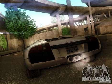 Lamborghini Murcielago Roadster для GTA San Andreas вид сзади