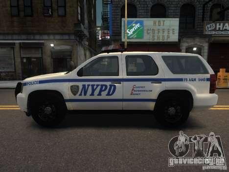Chevrolet Tahoe NYPD V.2.0 для GTA 4 вид слева