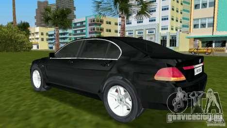 BMW 7-Series 2002 для GTA Vice City вид сзади слева