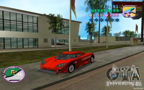 Koenigsegg CCX для GTA Vice City вид слева