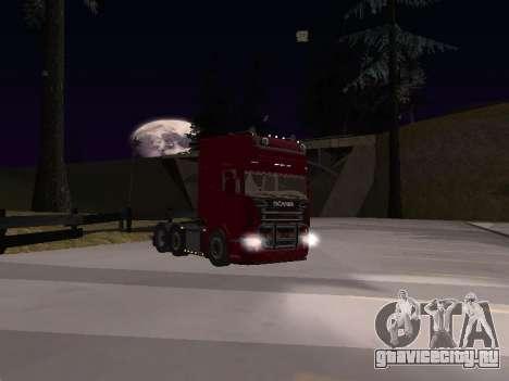 Scania 460 для GTA San Andreas вид изнутри