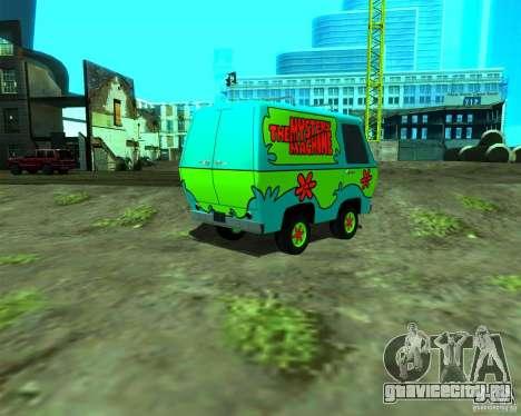 Mystery Machine для GTA San Andreas вид слева