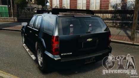 Chevrolet Tahoe LCPD SWAT для GTA 4 вид сзади слева