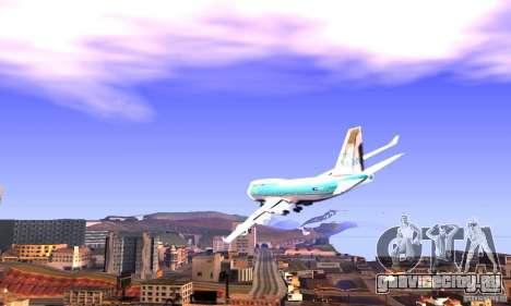 Boeing 747 KLM для GTA San Andreas вид слева