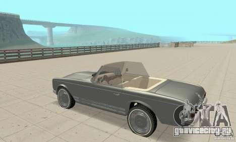 Mercedes-Benz 280SL (матовый) для GTA San Andreas вид сзади