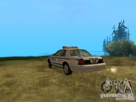 Ford Crown Victoria NYPD Police для GTA San Andreas вид справа