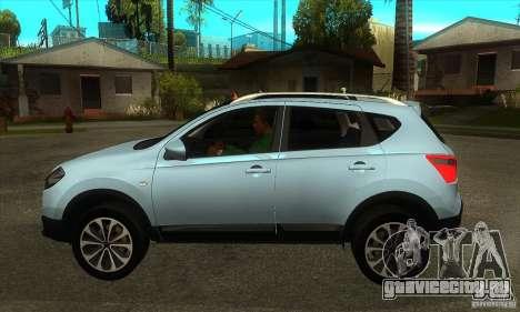 Nissan Qashqai 2011 для GTA San Andreas вид слева