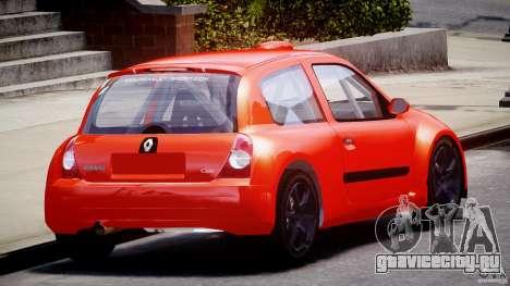 Renault Clio Sport для GTA 4 вид сбоку