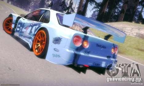 Nissan Skyline Touring R34 Blitz для GTA San Andreas вид слева