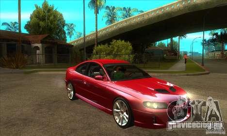 Holden Monaro CV8-R для GTA San Andreas вид сзади