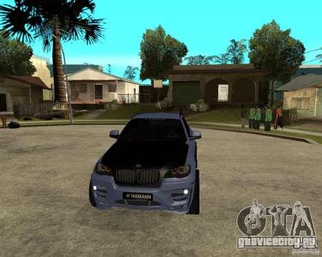 BMW X6 M HAMANN для GTA San Andreas вид сзади