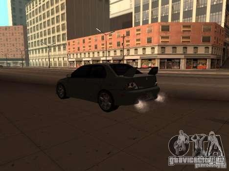 Mitsubishi Lancer Evolution 8 для GTA San Andreas вид слева