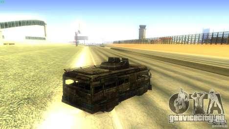 Frontline - MilBus для GTA San Andreas вид сзади слева