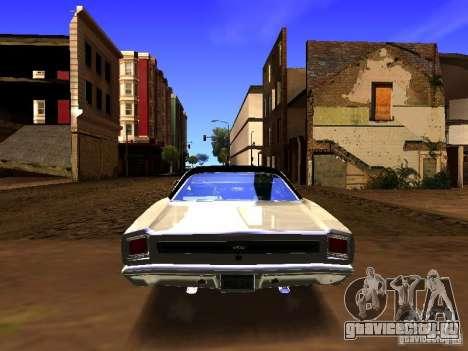 Plymouth GTX 1969 для GTA San Andreas вид изнутри