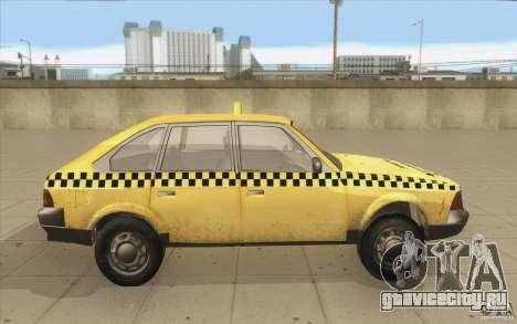 АЗЛК 2141 Москвич Такси v2 для GTA San Andreas вид изнутри
