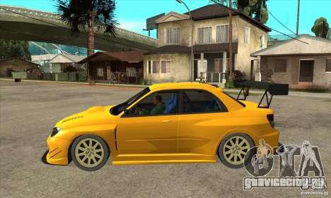 Subaru Impreza WRX STI для GTA San Andreas вид слева
