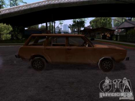 Машина 2 из CoD MW для GTA San Andreas вид слева